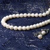 【ホワイト系】特選あこや本真珠/ネックレス・イヤリング2点セット(7.0〜7.5mmサイズ)品質保証書付き