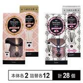 SHALDAN ステキプラス Stick 2種(ロマンスフルールの香り/シフォンブーケの香り) 本体/詰替