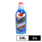 [246g×3個] SHOUT(シャウト)/アドバンスゲル ブラシ(ジェルタイプ部分用シミ落とし剤)