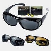 偏光レンズ使用 オーバーサングラス2個セット(昼間・夜間)