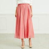【ベルメゾン】ウエストすっきり、丈が選べるロングスカート x1Fa9 / D83558 / ピンク / 5L 83