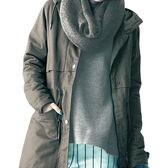 【ベルメゾン】スヌード付き切り替えスウェットTシャツ x1Fa9 / D39925 / 杢グレー / LL
