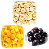 3種フルーツセット(マンゴー/バナナ/グレープ)