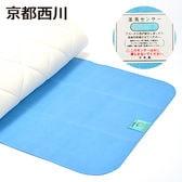 京都西川/湿気をぐんぐん吸収 除湿シート (敷きふとん・ベッドパッド用) ダブル(約130×180cm)/ブルー