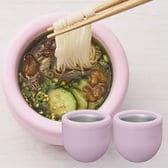 計2点[ピンク]ドウシシャ/シャリシャリ麺ちょこ/DMC-19PK