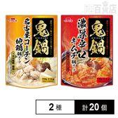イチビキ ストレート 鬼鍋名古屋コーチン地鶏鍋スープ/鬼鍋濃厚辛口キムチ鍋スープ