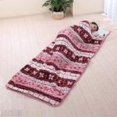 [カラーお任せ (ワインorブラウン)] ふわふわフランネル寝袋毛布 (約78×210cm)