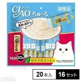 【16セット】CIAO ちゅ~る とりささみ かつお節ミックス味 14g×20本入り SC-193