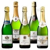 すべてフランス産 金賞受賞の入った高評価辛口スパークリング5本セット