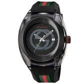 GUCCI  SYNC【YA137107A】メンズ腕時計 ブラック