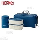 [800ml/ネイビー] サーモス(THERMOS)/真空断熱スープランチセット/JEA-800-NVY