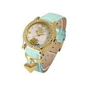 【アナと雪の女王 本牛革 スワロフスキー 腕時計】ディズニー レディース ハートチャーム