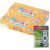 【90枚×2個】おむつが臭わない袋BOS(ボス) 大人用 Lサイズ 箱型(LLサイズ2枚おまけ)