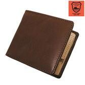 【ブラウン】栃木レザー社製皮革使用 二つ折り財布