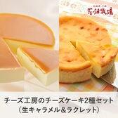 <2種セット>チーズ工房のチーズケーキ(ラクレット200g、生キャラメル200g)