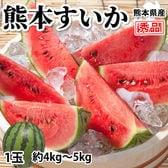 【予約受付】4/21~順次出荷【1玉 約4~5kg】熊本県産 すいか 秀品