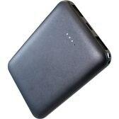 【ブラック】 モバイルバッテリー 2ポート 5000mAh 大容量 軽量 薄型 コンパクト
