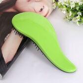 【グリーン2個】髪が絡まないヘアブラシ Lサイズ ヘアブラシ ブラシ艶髪 2セット