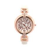 細ベルトで手首の華奢感をUP 愛されハートが文字盤に煌めく腕時計 SRF2-WHT レディース腕時計