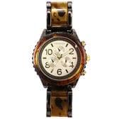 【WHT】重厚で高級感溢れる べっ甲カラー腕時計 フェイクダイヤル SRHI14-WHT メンズ