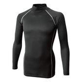 【ブラック/サイズ2L】BT織柄チェック ハイネックシャツ