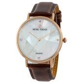 【レディース】MJ-5200-1 ミッシェルジョルダン 腕時計【ブラウン×ホワイト】