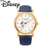 【天然ダイヤモンド使用】ディズニー ミッキー 腕時計 ユニセックス【インディゴブルー】