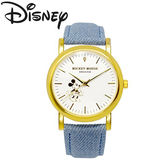 【天然ダイヤモンド使用】ディズニー ミッキー 腕時計 ユニセックス【ライトブルー】