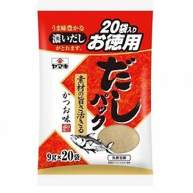 ヤマキ だしパック かつお味お徳用 9g×20袋×6個