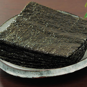 有明産 焼海苔全型 50枚 | 江戸宝永三年(1706年)創業の大人気老舗の焼海苔!手巻やおにぎりなど料理に幅広く使える全型サイズだからとっても便利。