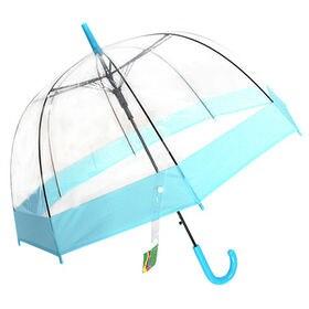 【スカイブルー】ドーム型 ジャンプ雨傘