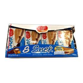 スネック ウエハース チョコ&ミルク味 1パック(25g×8個入り)×3パック