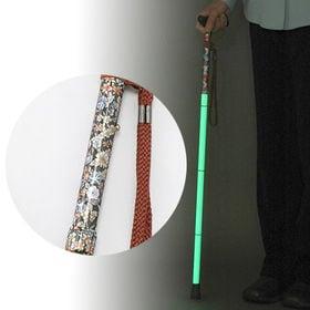 【光る杖!】蓄光ステッキ グリーンデザイン