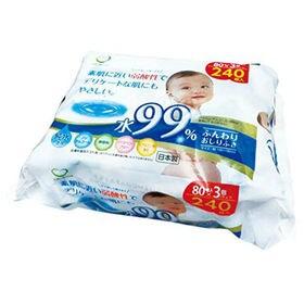 水99%弱酸性ふんわり赤ちゃんのおしりふき80枚x36P(3Px12個)