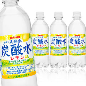 [24本]サンガリア 伊賀の天然水炭酸水(レモン) 500ml | 日本のやさしい天然水炭酸!クセのないスッキリとした味わい!!!