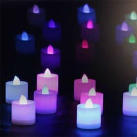 LEDカラーキャンドル24個セット