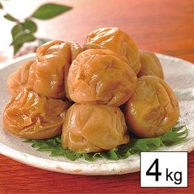 減塩3% 健康志向の紀州南高梅つぶれ梅(はちみつ) 4kg(a14274)