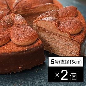 カカオがとろけるチョコレートケーキ 5号サイズ(直径15cm)×2個