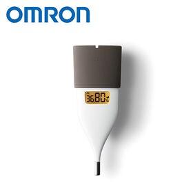 [ブラウン]オムロン/婦人用電子体温計 MC-652LC-BW|<口中専用>約10秒のスピード検温。iPhone/Androidスマートフォンで、体温管理やリズム管理も可能!