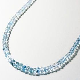 アクアマリン 天然石ネックレス / 2 / ライトブルー
