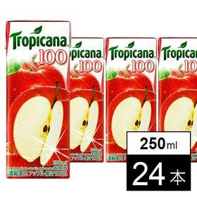 キリン トロピカーナ100% アップル LL250ml×24...
