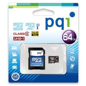 PQI/MicroSDXCカード (64G) Class10...