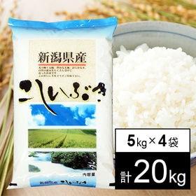 【20kg】 30年産新潟県産こしいぶき 白米5kg×4袋