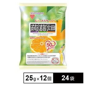 [24袋] 蒟蒻畑温州みかん味 25g×12個 | こんにゃくを温州みかん果汁で味付けしました!