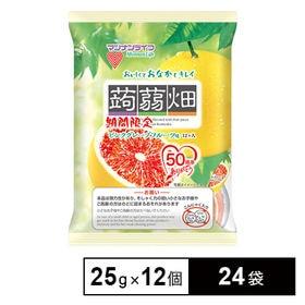 [24袋] 蒟蒻畑ピンクグレープフルーツ味 25g×12個 | こんにゃくをピンクグレープフルーツ果汁で味付けしました!