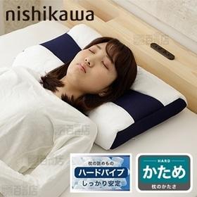 [ハードパイプ/ブルー]西川/首にやさしい枕 (約58X39...