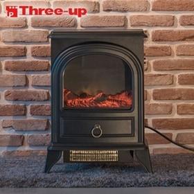 スリーアップ/ノスタルジア 暖炉型ヒーター (ブラック)/C...