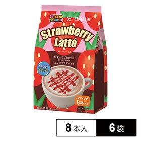 チロルチョコx日東紅茶 ストロベリーラテ8本入り 108g×...