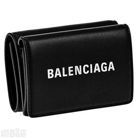 【BALENCIAGA】三つ折り財布 ブラック BH-505...