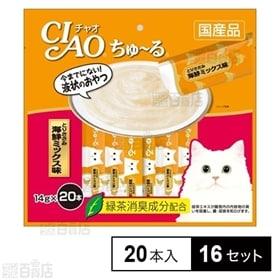 【16セット】CIAO ちゅ~る とりささみ 海鮮ミックス味...